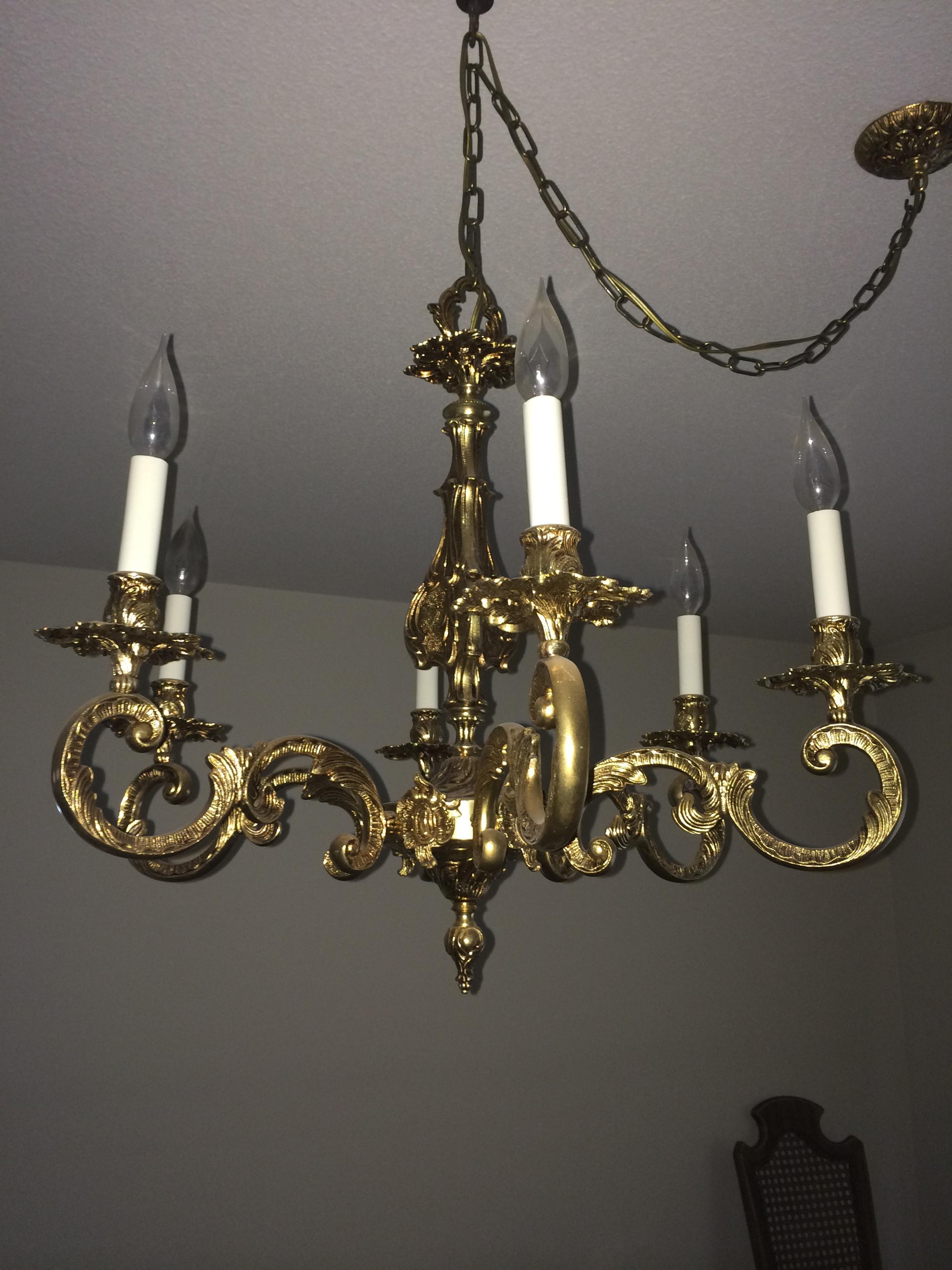 Antique Brass Chandelier Antique Appraisal Instappraisal